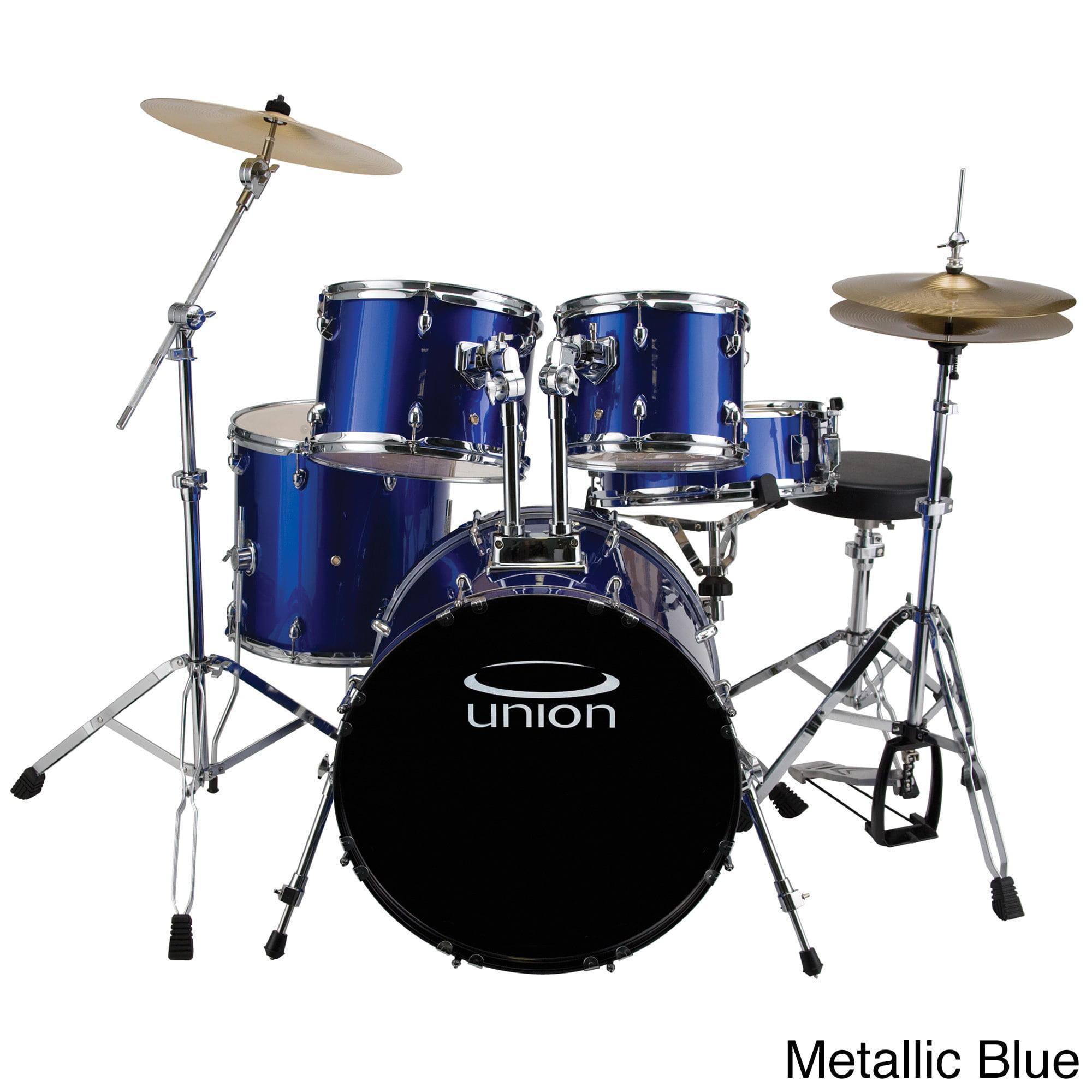Union U5 5-Piece Jazz/Rock/Blues Drumset w/ Hardware, Cymbals & Throne - Dark Blue