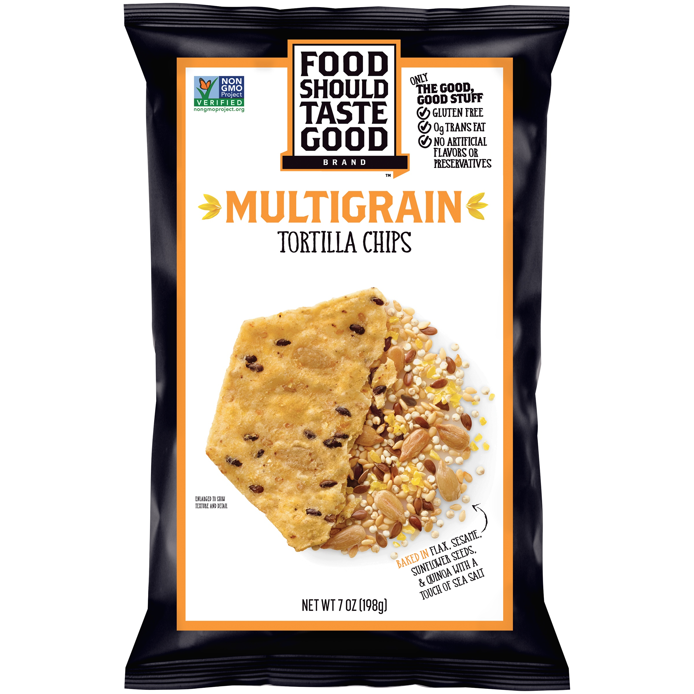 Food Should Taste Good Gluten Free Multigrain Tortilla Chips 7 oz. Bag by Food Should Taste Good, Inc.