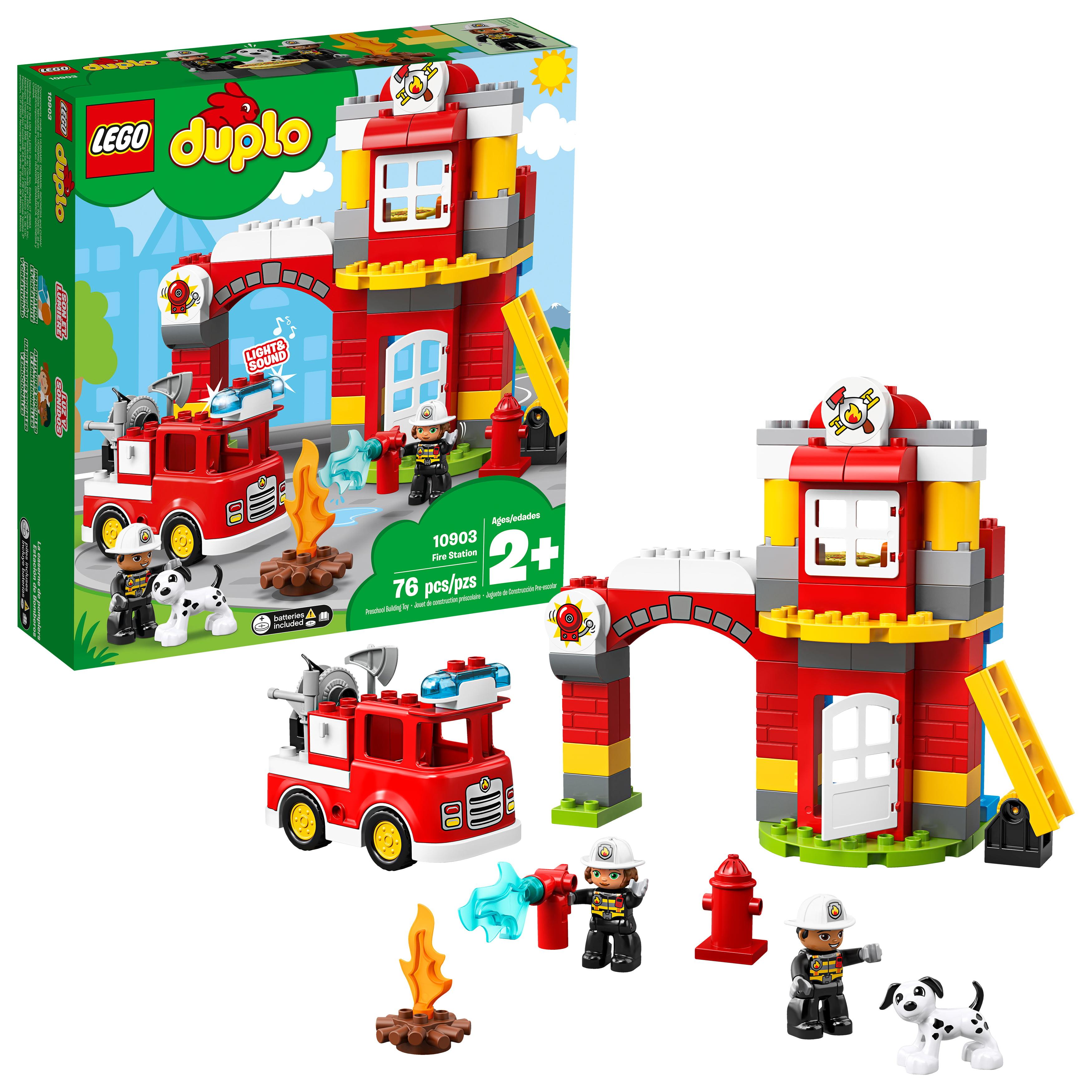 Lego DUPLO Town Fire Station 10903 Preschool Building Set by LEGO System Inc