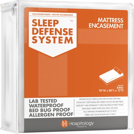 Hospitology Sleep Defense System Waterproof / Dust Mite Proof Pillow Encasement, Set of 2, Multiple Sizes