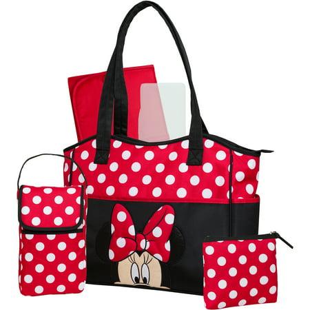 d3b2da1fe62 Disney Minnie 3 Piece Diaper Bag Set with Bonus Bottle Bag - Walmart.com