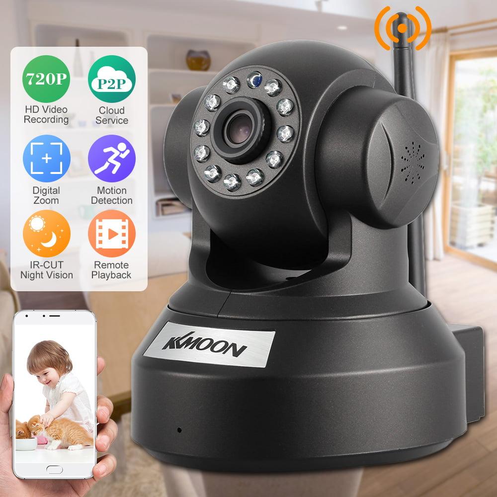 KKmoon 720P HD H.264 1MP IP Camera PnP P2P AP Pan Tilt IR Cut WiFi Wireless Network Webcam