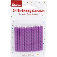 Purple Birthday Candles