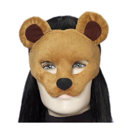 Deluxe Fuzzy Animal Mask Adult: Honey Bear - Bear Mask
