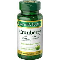 Nature's Bounty Cranberry Fruit 4200 mg Plus Vitamin C, 120 Softgels