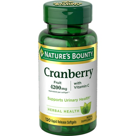 Nature's Bounty Cranberry Herbal Health Rapid Release Softgels, 120