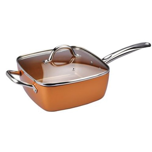 Diamond Home Chefs Cusine 11'' Copper Skillet with Lid