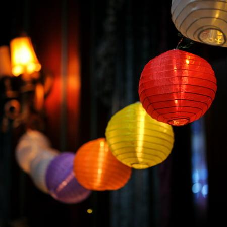 Christmas Festival Indoor & Outdoor 20 LEDs 5-Color Lantern String Light - 30 ft. LONG (String Lantern Lights)