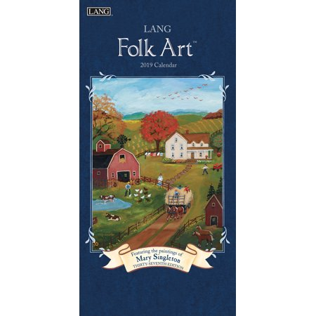 2019 VERTICAL WALL CALENDAR, LANG FOLK ART™