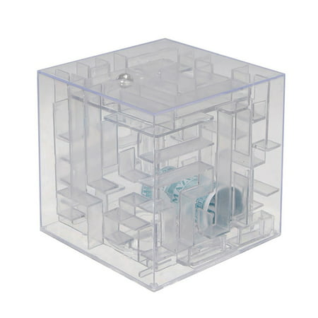 3D Maze Ball Treasure Box Coin Bank Piggy Bank Puzzle Game Saving Money Case (Pit Bull Piggy Bank)