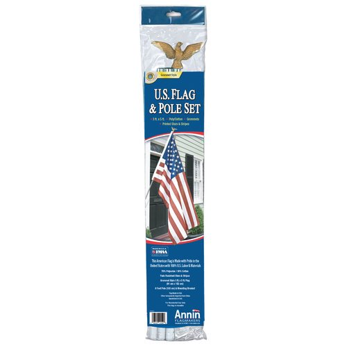 Annin Flagmakers 3 X 5 U S Flag And Flagpole Set Walmart Com Walmart Com