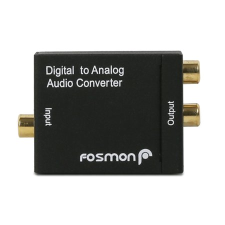 Fosmon Digital Optical Coax to Analog RCA Audio Converter Adapter