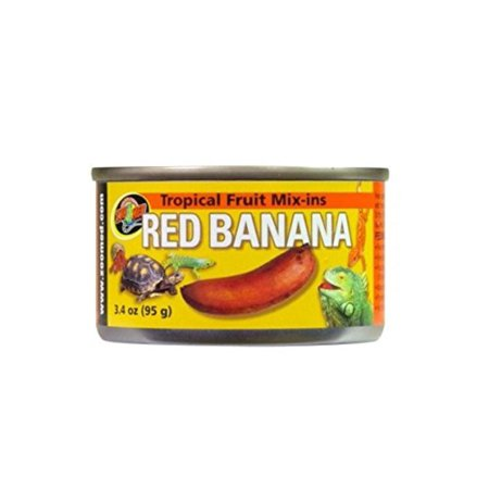 Tropical Fruit Mix-ins Red Banana Turtle Food, 3.4-Ounce, Feed Hatchling Animals DailyFeed Adult animals 3-4 times per week By Zoo -