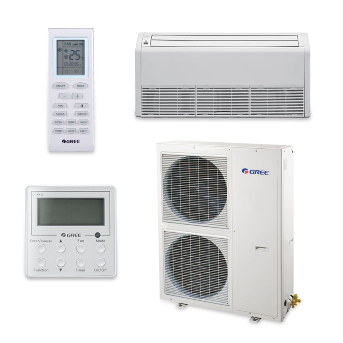 Gree UMAT42HP230V1AF-S - 42,000 BTU 16 SEER Floor Ceiling Ductless Mini Split Air Conditioner Heat Pump 208-230V
