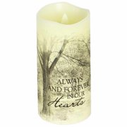 Candle-Flameless-Premier Flicker-Forever In Our Hearts w/Timer-Vanilla (6  x 3 )