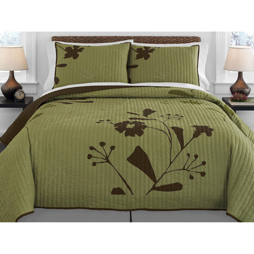 Better Homes and Gardens Olive Thistle Quilt