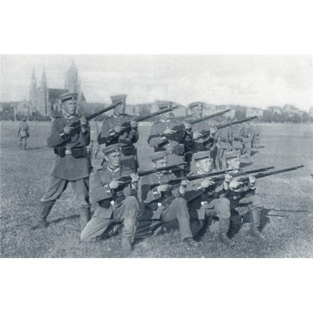 German Volunteers At Drill During World War I From The Illustrated War News 1915 Poster Print, 18 x 11 - image 1 of 1