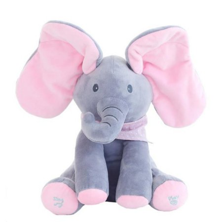 Flappy Ear Liam The Elephant Peek-a-boo Interactive Sing and Play Plush Toy for