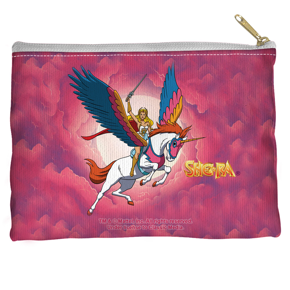 She Ra Clouds Accessory Pouch White 8.5X6
