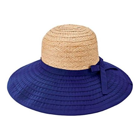 0396e26ad44 San Diego Hat Company - Women s San Diego Hat Company Polyester Large Brim  Ribbon Hat RBL4828 - Walmart.com