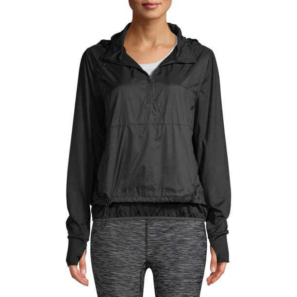 activewear jacket : Athletic Works Women's Performance Active Tunic Hoodie