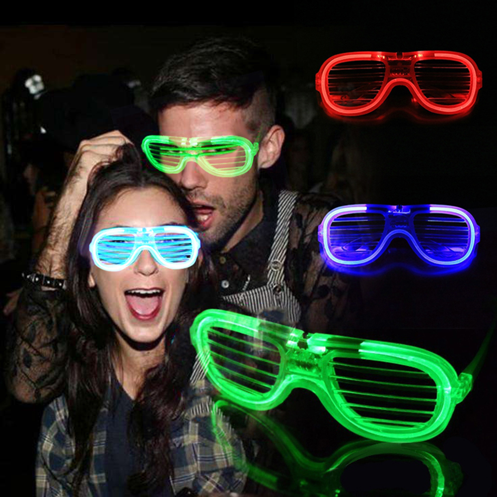 3 Mode LED Flashing Glowing Shutter Glasses for Event Party Halloween Supplies