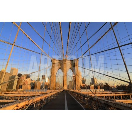 Walkway on the Brooklyn Bridge in New York City. Print Wall Art By SeanPavonePhoto
