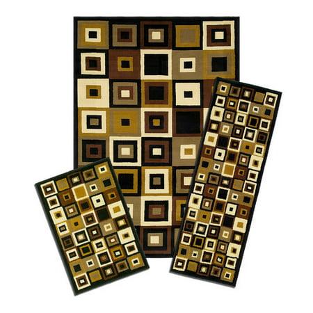 Achim Importing Co Capri 3 Piece SW Tiles Area Rug Set