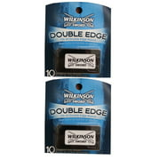 Wilkinson Sword Double Edge Razor Blades, 10 ct. (Pack of 2) + Eyebrow Ruler