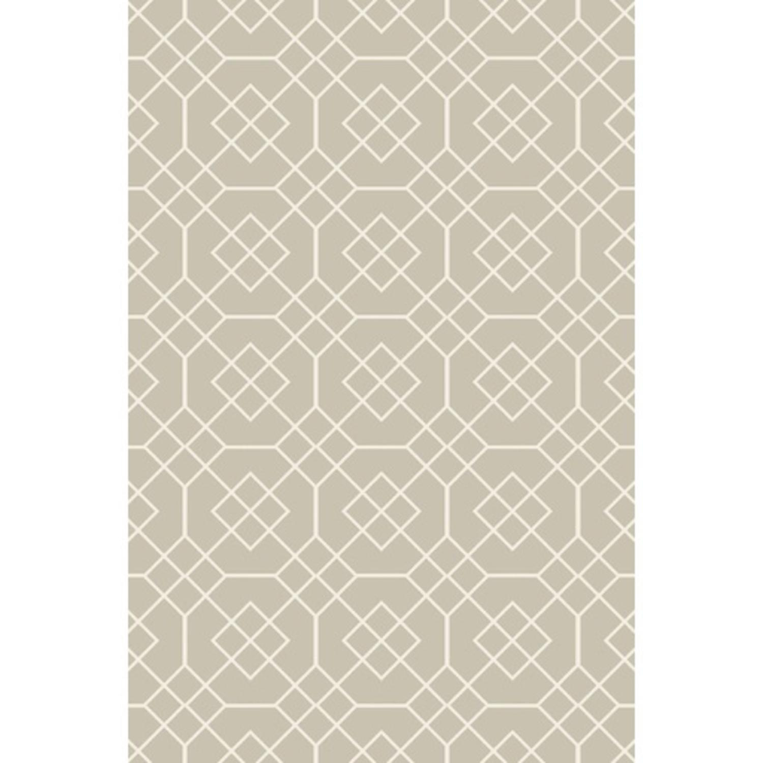5' x 7.5' Urban Treasures Dew Green and Ivory White Area Throw Rug