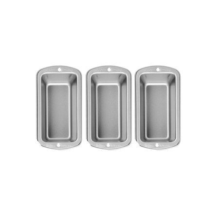 Wilton Recipe Right 3 Piece Mini Bread Loaf Cake Meatloaf Pan Set 5 3 4 X 3  New