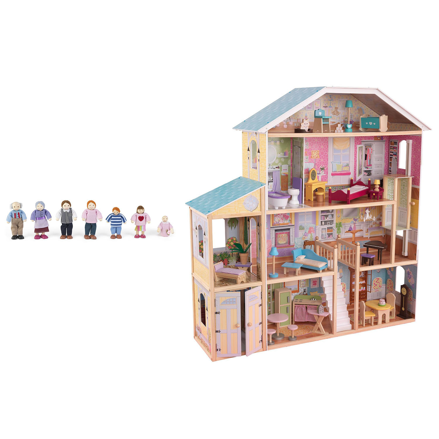 Kidkraft Majestic Mansion Play Wooden Dollhouse With Furniture