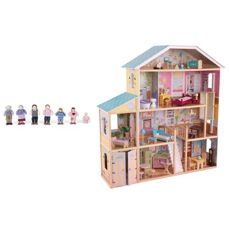 Kidkraft Majestic Mansion Play Wooden Dollhouse With Furniture Doll Family