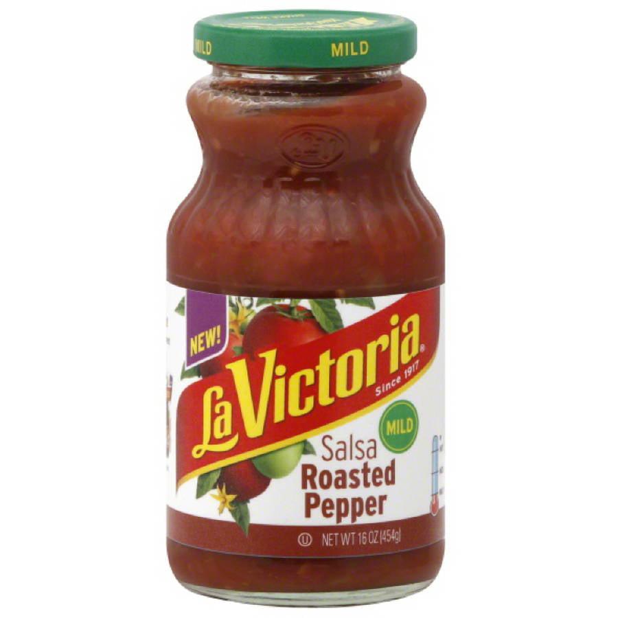 La Victoria Mild Roasted Pepper Salsa, 16 oz, (Pack of 12)