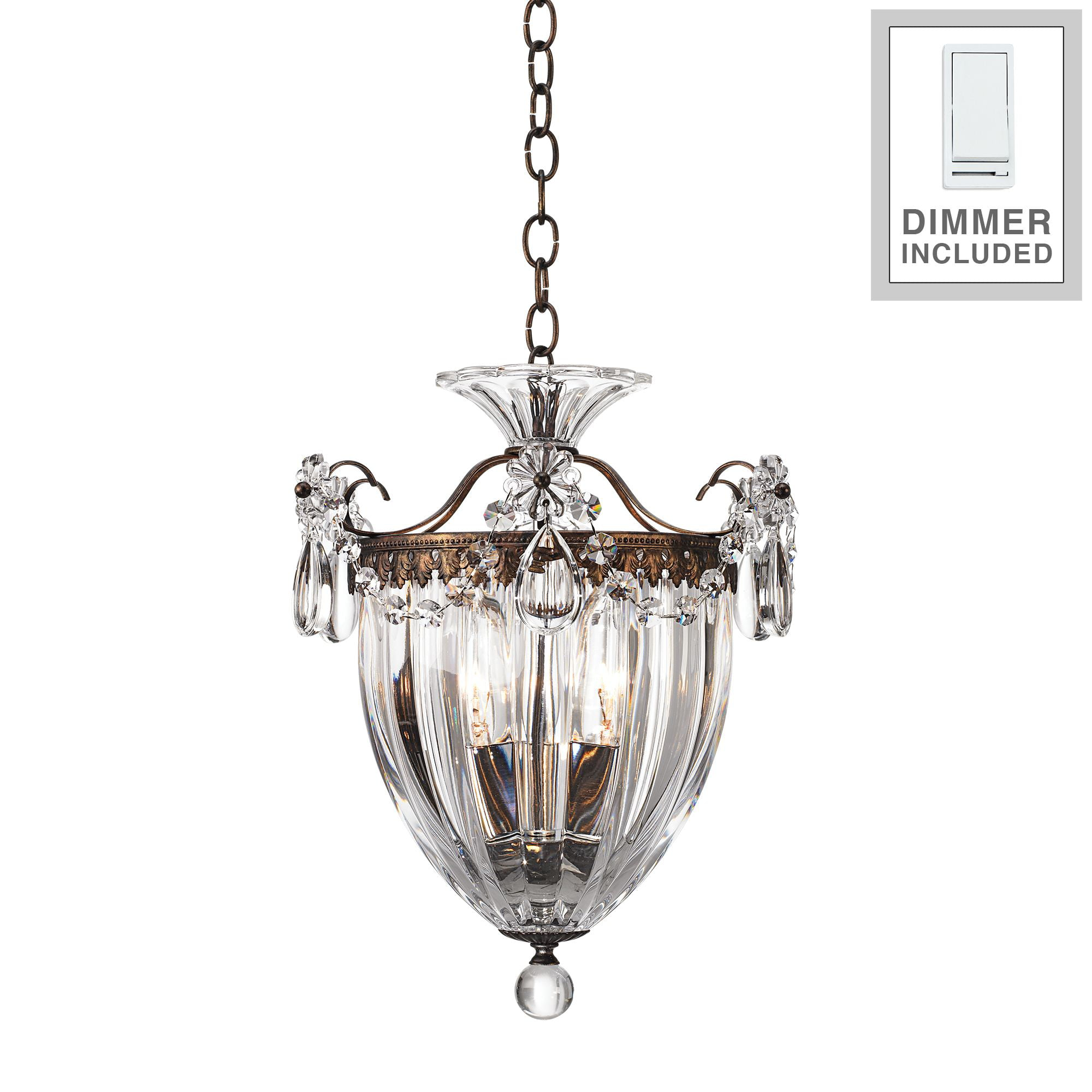 "Schonbek Bagatelle 10 1 2""W Crystal Mini Pendant With Dimmer by Schonbek"