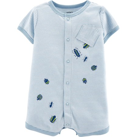 Carters Baby Boys Spilling Bugs Snap-Up Romper