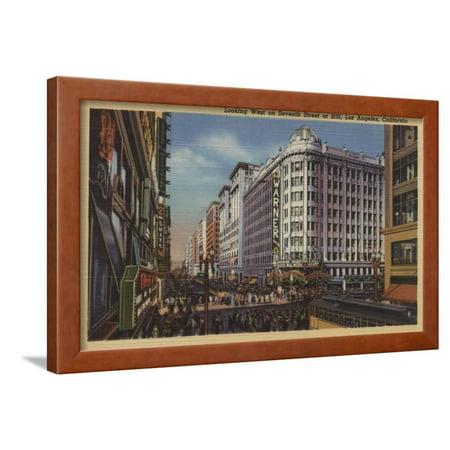Los Angeles, CA - View of Warner Bros. on 7th St. Framed Print Wall Art By Lantern (735 S Figueroa St Los Angeles Ca 90017)