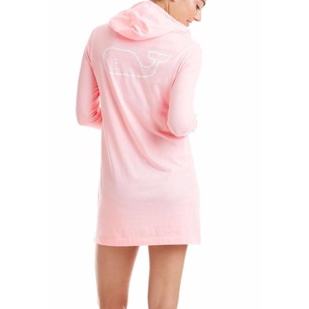 Vineyard Vines Women's Graphic Tee Whale Hoodie Beach Cover Up Long Sleeve Flamingo $74.00