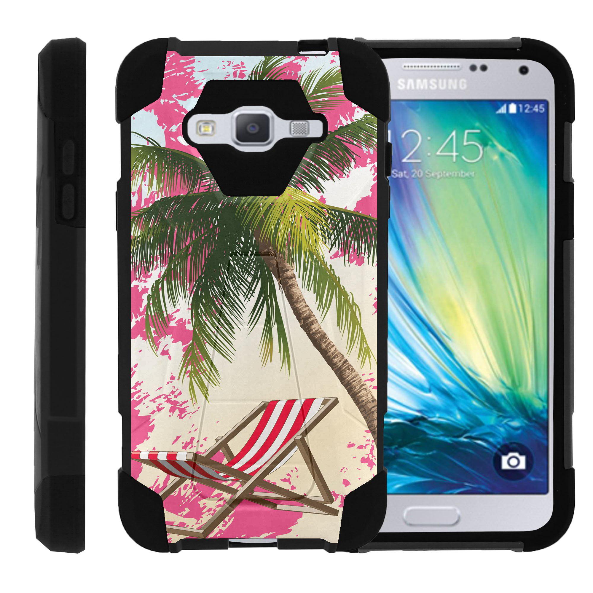 TurtleArmor ® | For Samsung Galaxy J3 | J3V | Express Prime J320A [Dynamic Shell] Dual Layer Hybrid Silicone Hard Shell Kickstand Case - Beach Lagoon