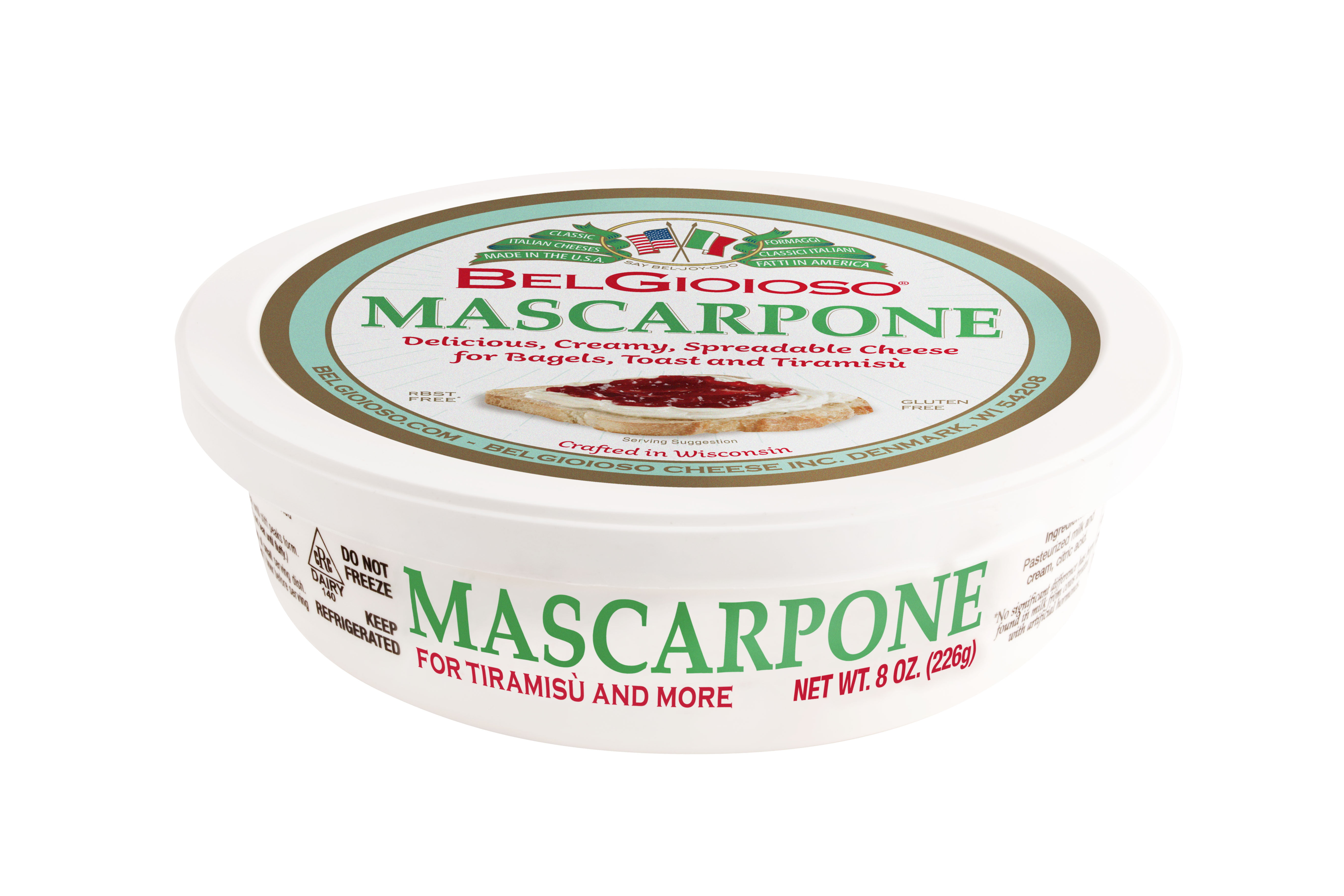 BelGioioso Mascarpone Cheese, 8 oz Cup, Spreadable Cheese - Walmart.com
