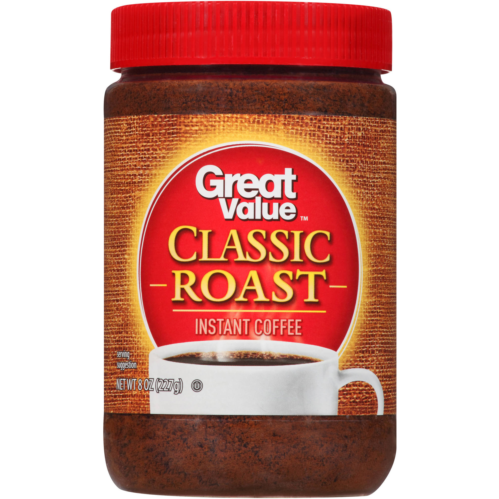 Great Value Classic Roast Instant Coffee, 8 oz