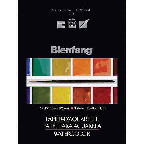 Bienfang Watercolor Paper Pad, 15 Sheets