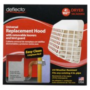 Deflecto Louvered Universal Replacement Dryer Vent Hood Cover Bird Guard WM8