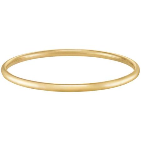 Mercury Forever Last 10k Yellow Gold Bangle Bracelet