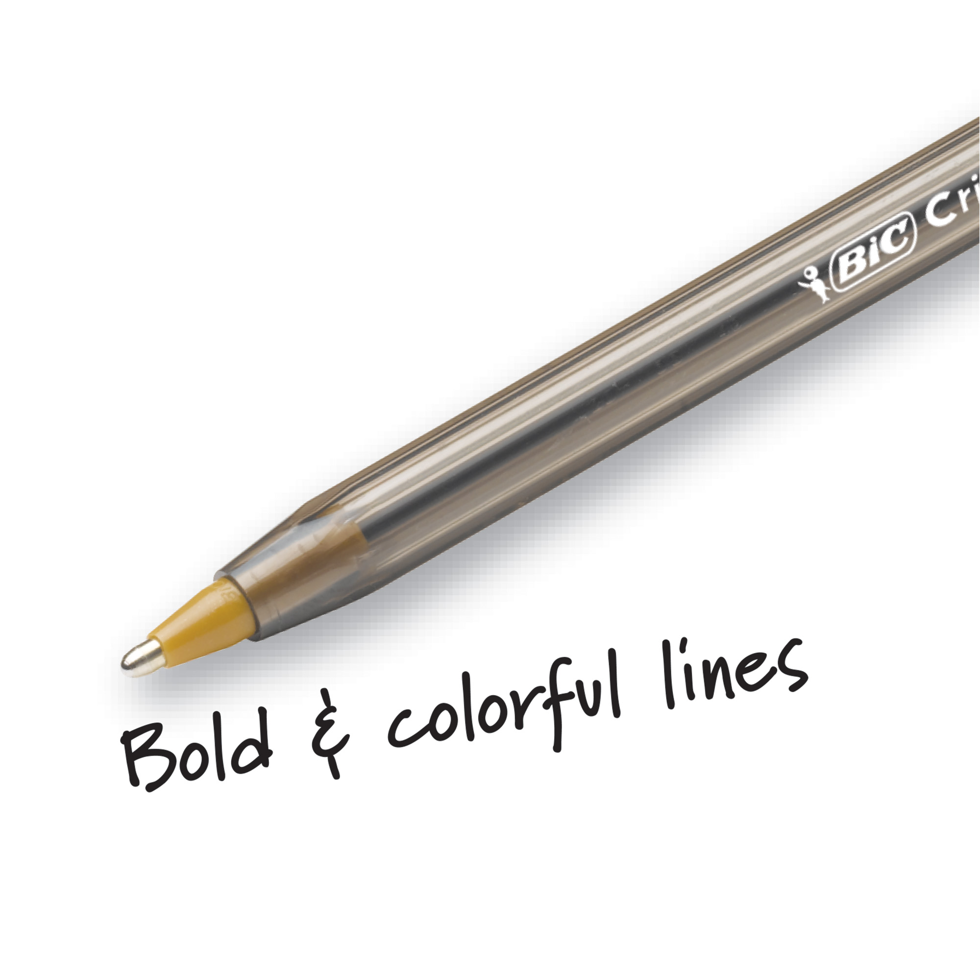 BIC 897513 Cristal Ballpoint Stick Pens Bold Point