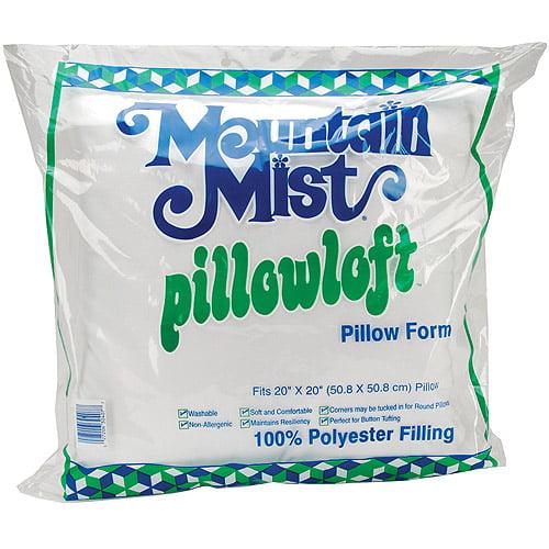 """Mountain Mist Pillowloft Pillow Form, 20"""" x 20"""""""