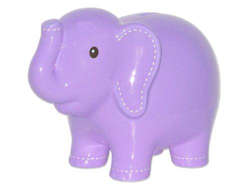 Blue Child to Cherish Large Stitched Elephant Bank