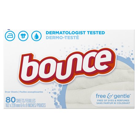 Bounce Free & Gentle Fabric Softener Dryer Sheets, 80 count ()