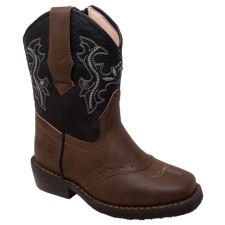 - Adtec Case IH Western Light Up Cowboy Boot Faux Leather Brown/Black CI-5016