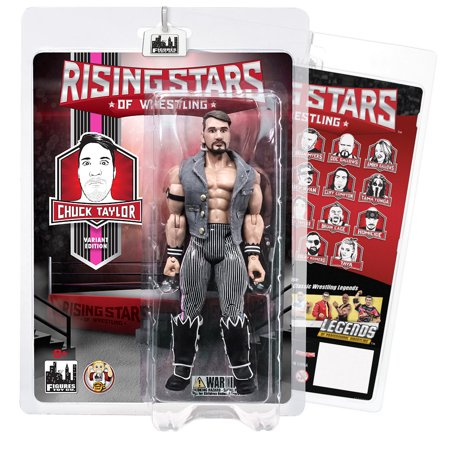 Rising Stars of Wrestling Action Figure Series: Chuck Taylor (Pink Stripe Variant)